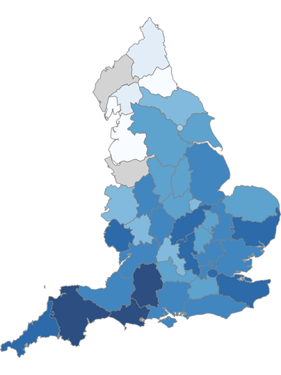 image of england choropleth